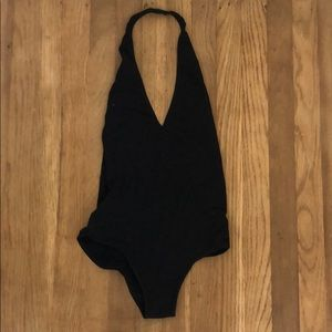 American Apparel Black Bodysuit with Low Back